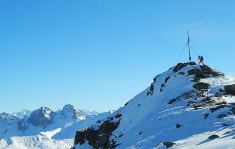 Tourengeher am Gipfel