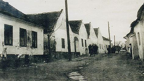 Altes Foto: Jüdisches Viertel in Frauenkirchen