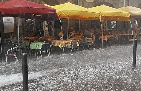 Hochwasser in Innsbruck im Juli 2010