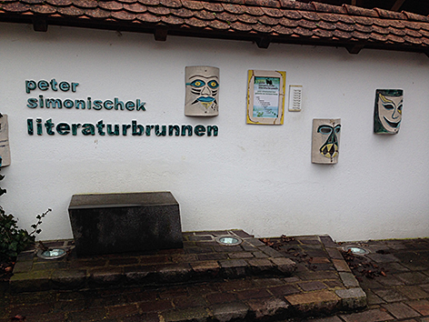 Literaturbrunnen Simonischek