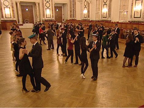 Proben für den Akademikerball in der Hofburg