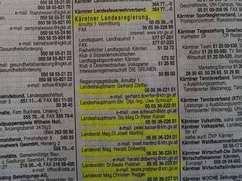 Telefonbuch Oberösterreich