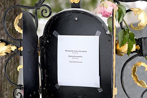 Grab des Schriftstellers Thomas Bernhard