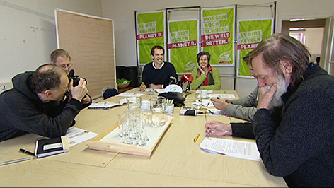 Pressekonferenz von Wolfgang Spitzmüller und Regina Petrik