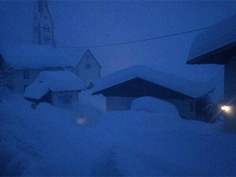 Schnee Hermagor früh