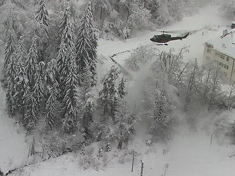 Bundesheer Helikopter Schnee