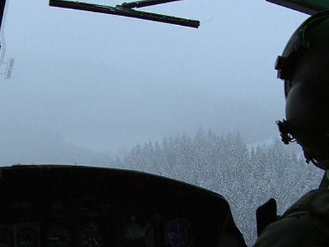 Bundesheer Hubschrauber Schnee