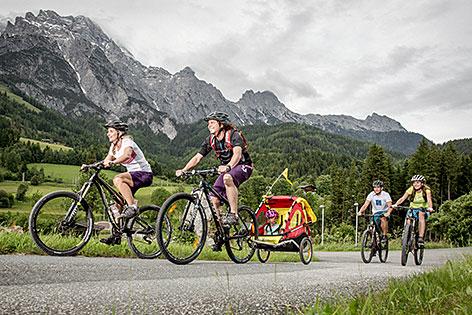 Saalfelden-Leogang Sommer Tourismus Radfahren Familie Biken