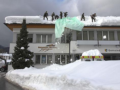 Update Schnee Soldaten abgezogen gitschtal