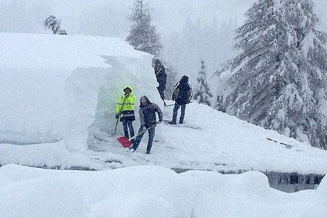Schnee Neuerliche Stromausfälle Bundesheer hilft Nassfeld