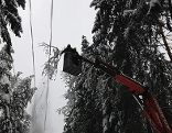 Arbeiten an den Stromleitungen