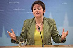 Gesundheitsstadträtin Sonja Wehsely (SPÖ) bei Pressekonferenz