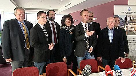 FPÖ-Kandidatenteam bei Präsentation