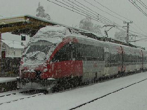 Schnee Zug Krumpendorf