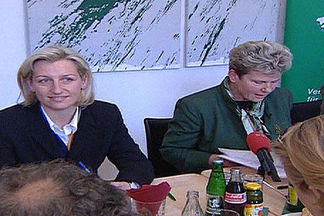 Kristina Edlinger-Ploder und Waltraud Klasnic