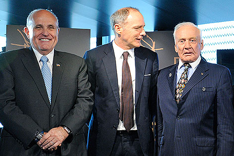 "Rudolph Giuliani, Thomas Jakoubek,  Edwin ""Buzz"" Aldrin"