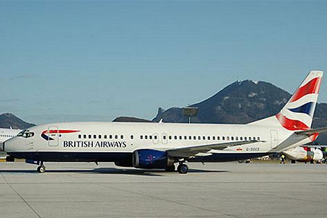 Jet der British Airways am Salzburger Flughafen