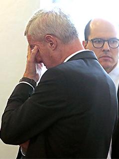 Siegfried Grigg nach der Urteilsverkündung