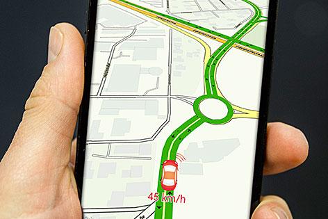 Verkehr in Salzburg-App auf dem Smartphone