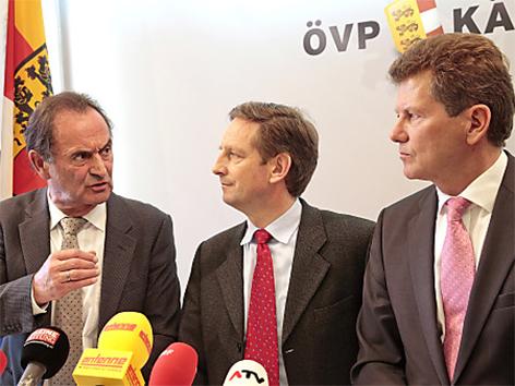 Gabriel Obernosterer, Christian Benger und Wolfgang Waldner