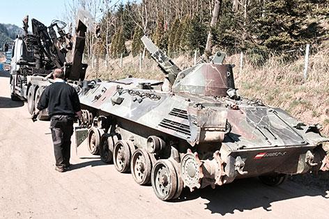 Panzer Bundesheer Verschrottung Kuttin