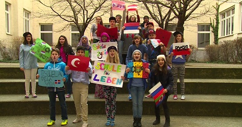 """ORF-Initiative """"Schule fürs Leben"""" - Schüler der Europäischen Mittelschule in Wien"""