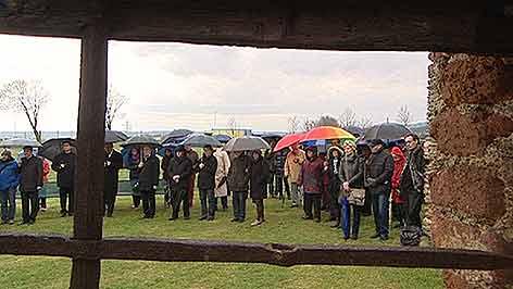Gedenkveranstaltung beim Kreuzstadel in Rechnitz