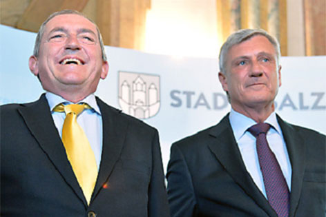 Heinz Schaden (links) und Harald Preuner