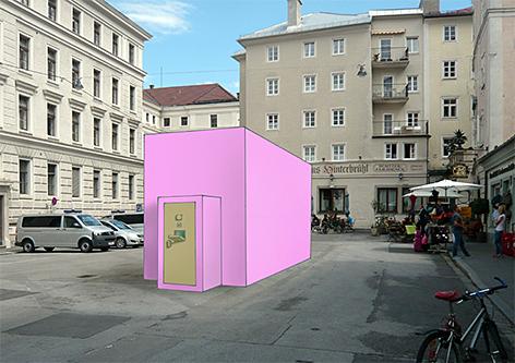 Bernhard Gwiggner Zelle Kunst Künstler Kunst am Bau Kajetanerplatz