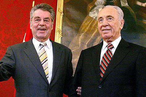 Heinz Fischer und Shimon Peres 2006 in der Hofburg