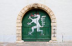 Tor mit steirischem Logo