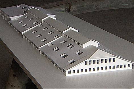 Modell Panzerhalle