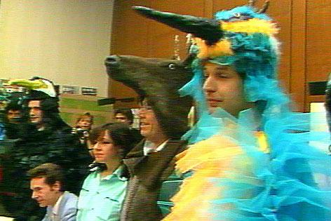 Pressekonferenz der Tiere