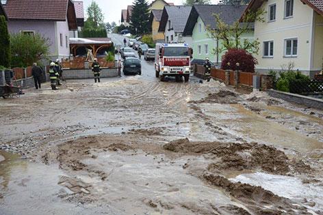 Überflutete Gemeinde