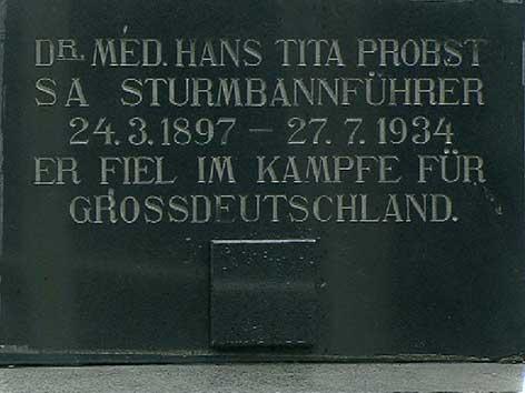 Nazi Grabstein Graz