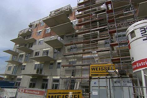 Baustelle der BROT-Baugruppe in der Seestadt Aspern
