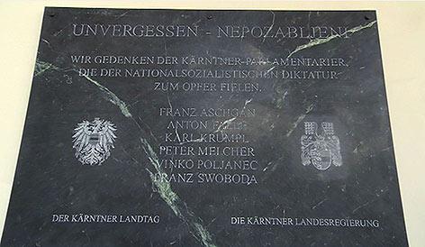 Gedenktafel Landhaus Nazi Opfer