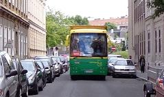 Touristenbus in der Leopoldstadt