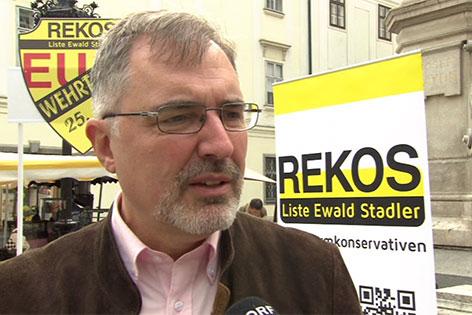 Ewald Stadler, EU-Spitzenkandidat der REKOS