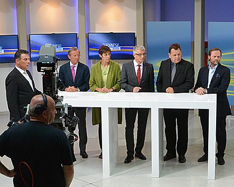 EU-Wahl 2014 TV-Debatte im ORF Landesstudio Salzburg