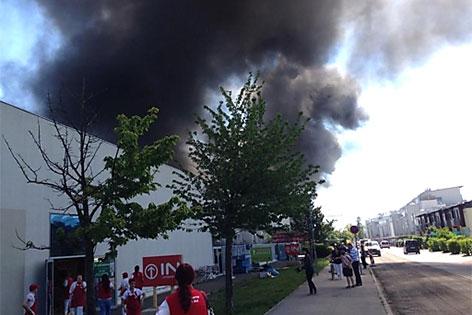 Brand im Fischapark Wr. Neustadt