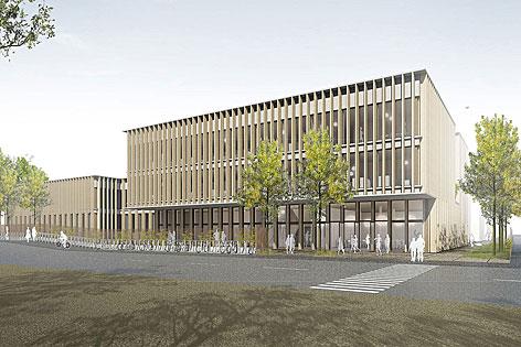 Visualisierung: Das neue TÜWI-Gebäude