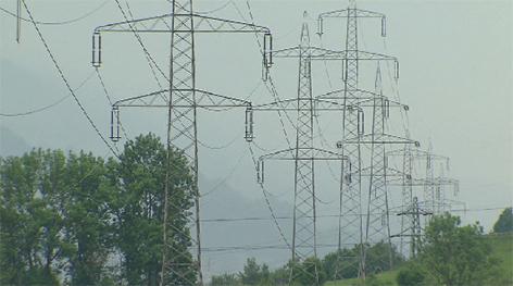 380 kV stromautobahn Freileitung Strom elektrizität