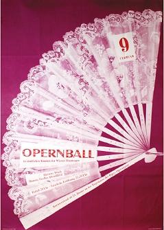 Opernball, Ankündigungsplakat, 1957, MAK