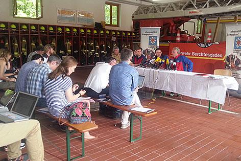 Pressegespräch der Bergwacht Berchtesgaden