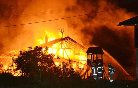 Großbrand Bauernhaus