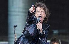 Rolling Stones bei Konzert in Berlin im Juni 2014