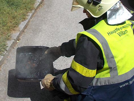 Brandalarm Villach verbranntes Essen
