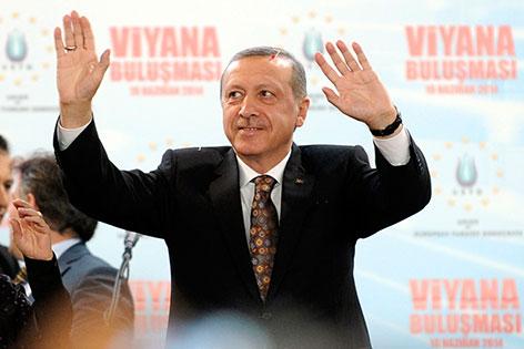 Erdogan vor seiner Rede