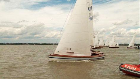 Segelboote auf dem Neusiedler See